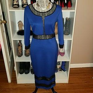 Venus Royal Blue Cocktail Dress sz M